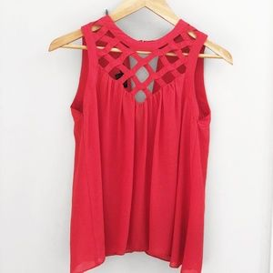 Love Culture Caged Blouse